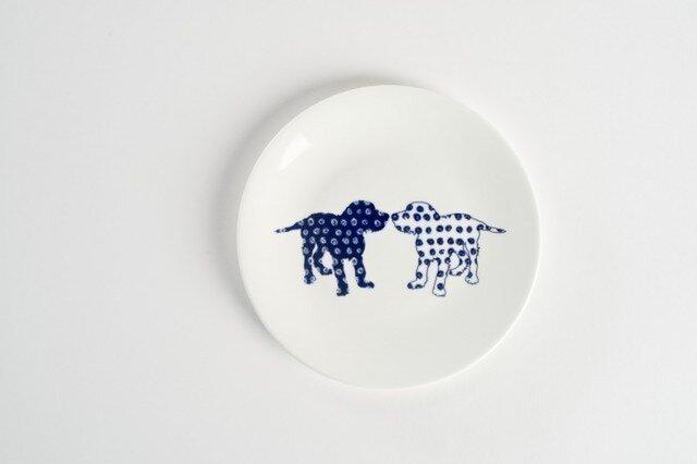 Dog Side Plate -犬柄のお皿-の画像1枚目