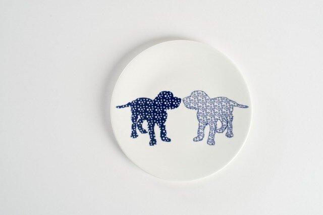 Dog Side Plate ②-犬柄のお皿-の画像1枚目