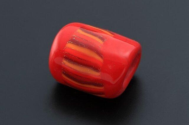 とんぼ玉帯留 赤いシリウスの画像1枚目