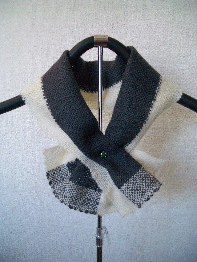 草絵木織り® ミニマフラー・初雪の画像1枚目