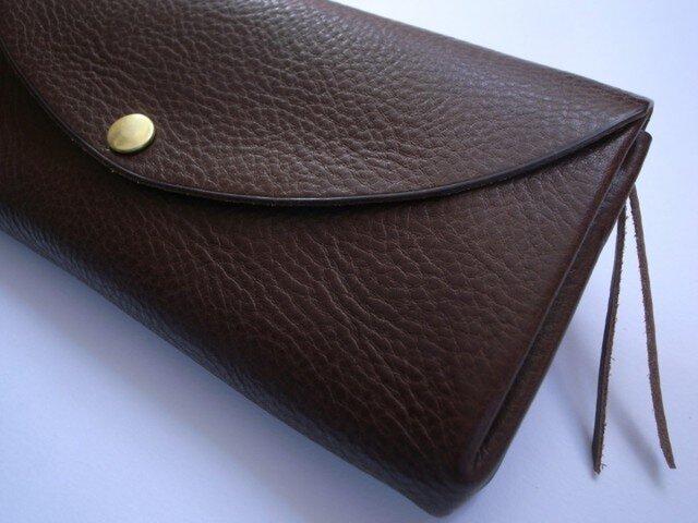【再販しました】長財布 (color/チョコ)の画像1枚目