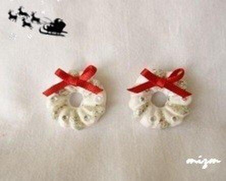 再々販≫【Xmas】クリスマスリース★White.Sの画像1枚目