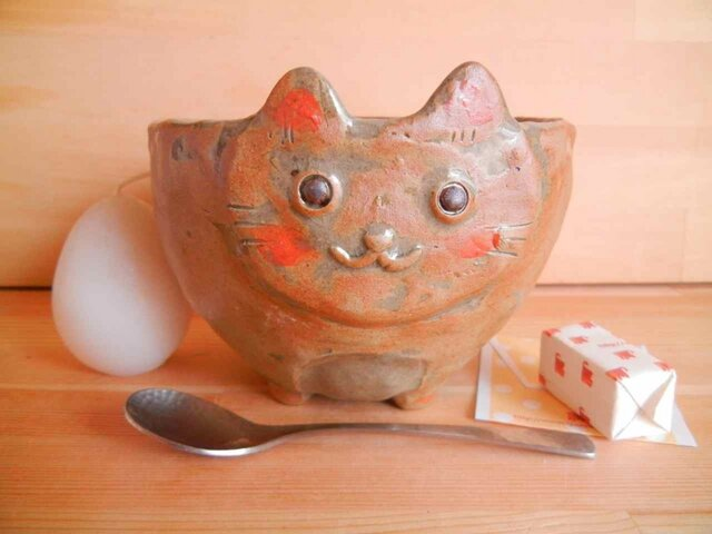にゃんこサラダボール:茶の画像1枚目
