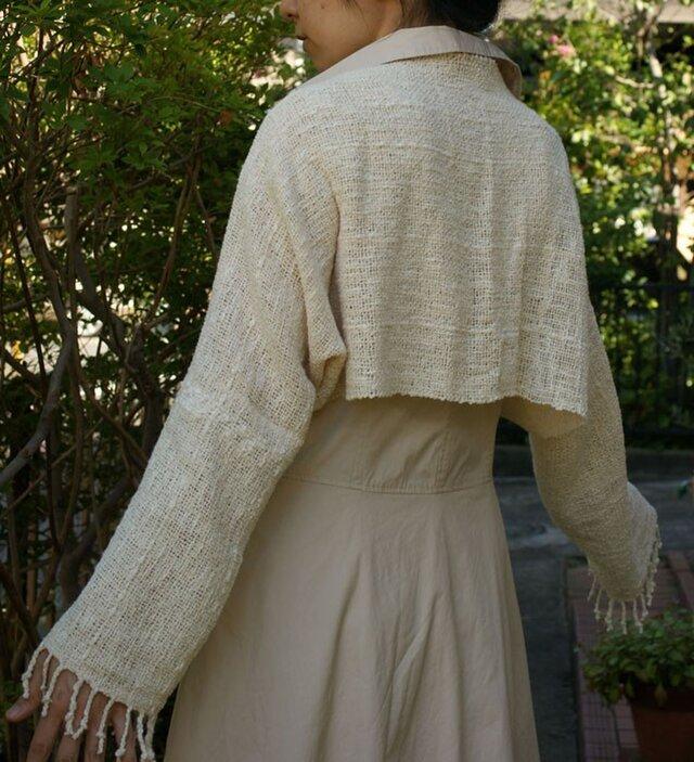 手織り マーガレット・ボレロ (オフホワイト)の画像1枚目