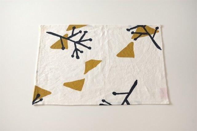 Place mat(white / illustration)の画像1枚目