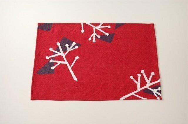Place mat(red / illustration)の画像1枚目