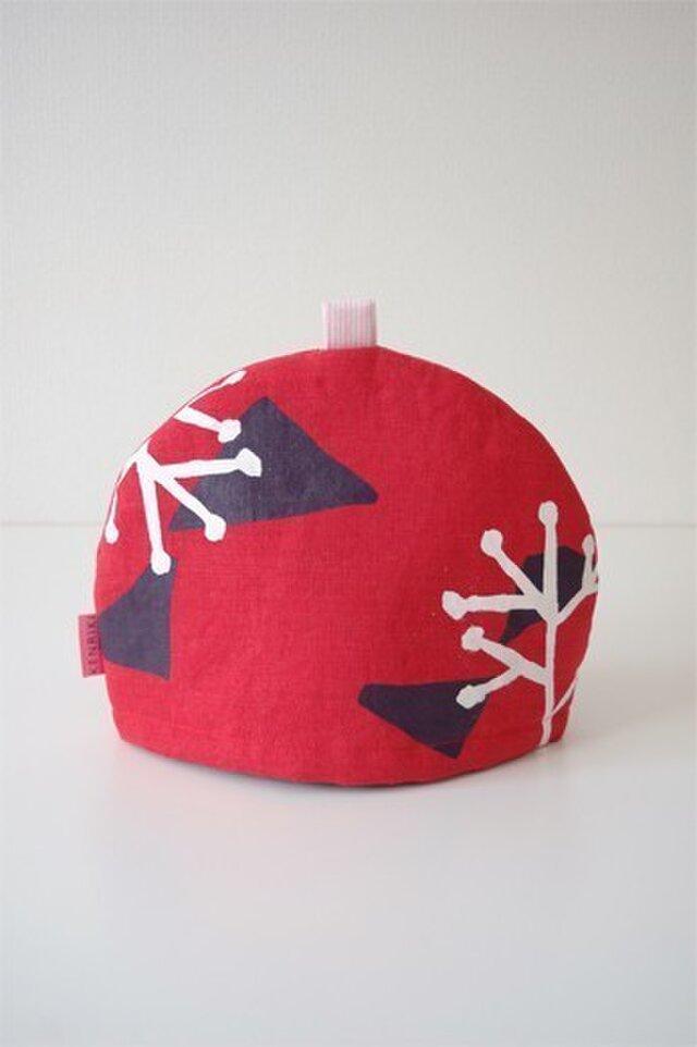 Tea cozy(red/illustration)の画像1枚目