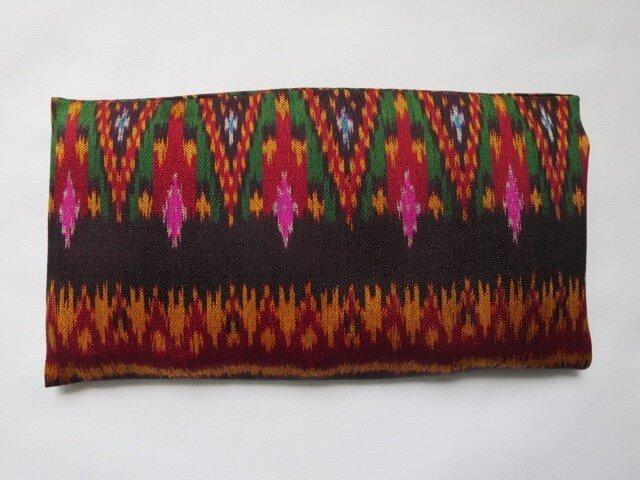 手織り絣 アイピロー No.001の画像1枚目