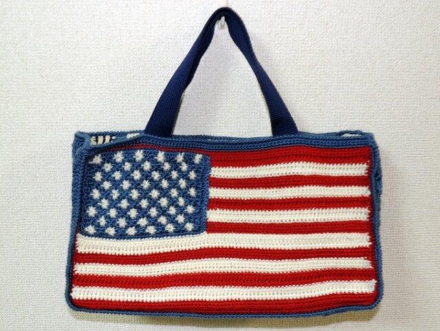 星条旗のバッグの画像1枚目