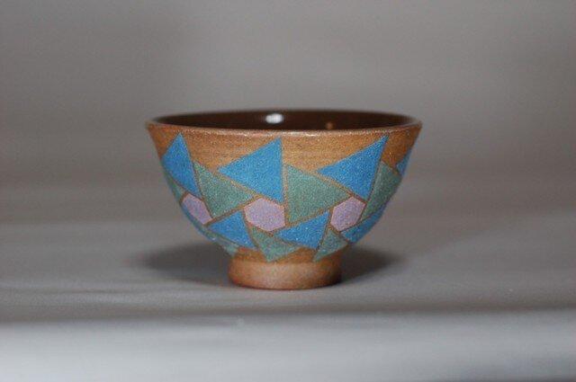 彩泥糸伏せ飯茶碗 の画像1枚目