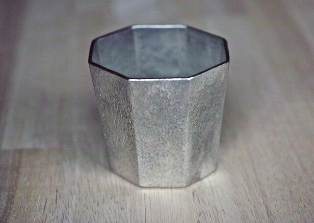 錫製 コップ(八面)の画像1枚目