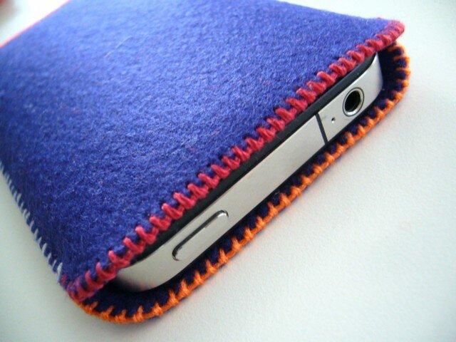 iPhone 5/4S felt sleeveの画像1枚目