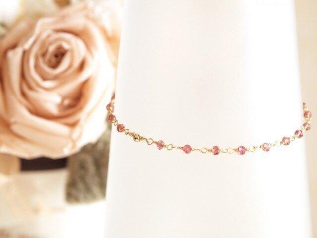 14KGF Garnet Braceletの画像1枚目