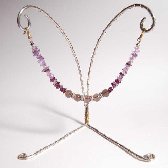 羽織紐 紫のグラデーションの画像1枚目
