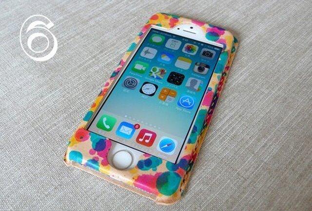 【受注制作】iPhone6専用ケース|drop(三原色)の画像1枚目