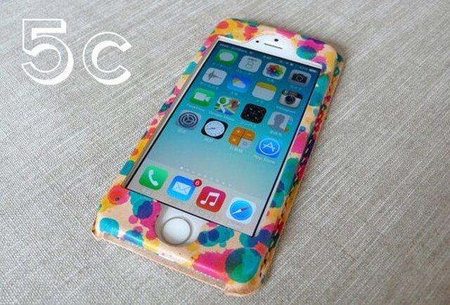 【受注制作】iPhone5c専用ケース drop(三原色)の画像1枚目