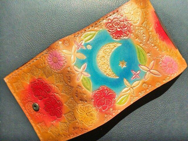 本革財布~色とりどりの花と~の画像1枚目