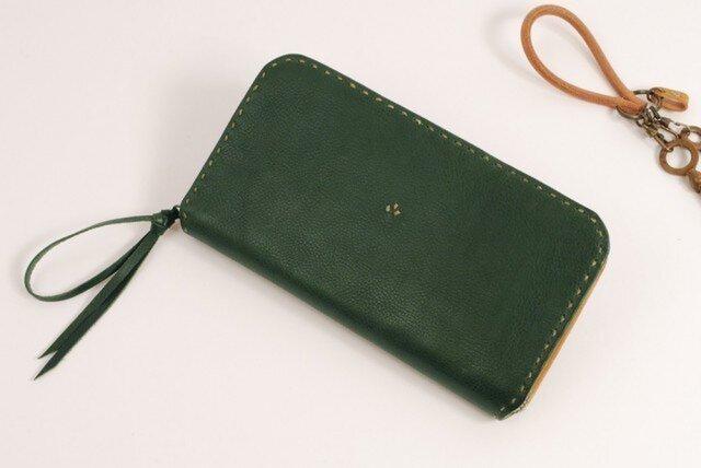 【受注製作】財布 rzw [グリーン]の画像1枚目