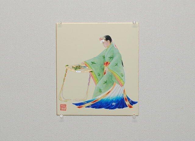 日本画色紙 「浦安の舞」の画像1枚目