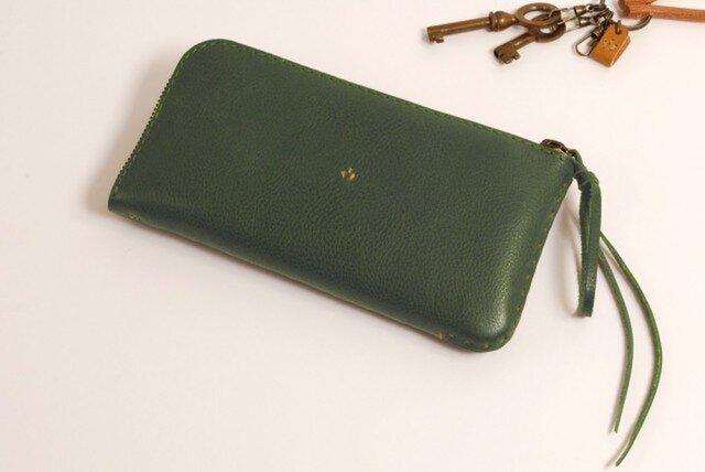 【受注製作】財布 lzw [グリーン]の画像1枚目