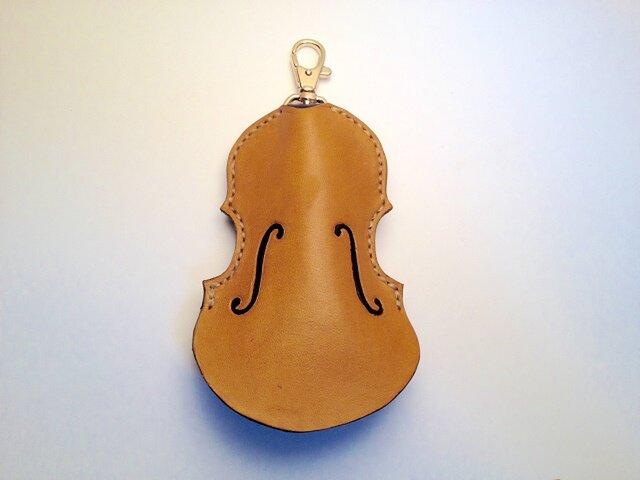 (受注製作) バイオリン/レザーキーケース / CAMELの画像1枚目