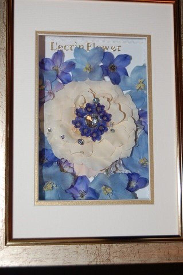 宝石のような薔薇のレカンフラワーの画像1枚目