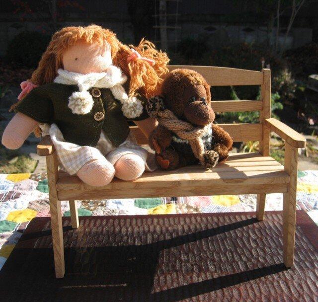 ウォルドルフ人形ベンチ(Sサイズ・オイル仕上げ)の画像1枚目