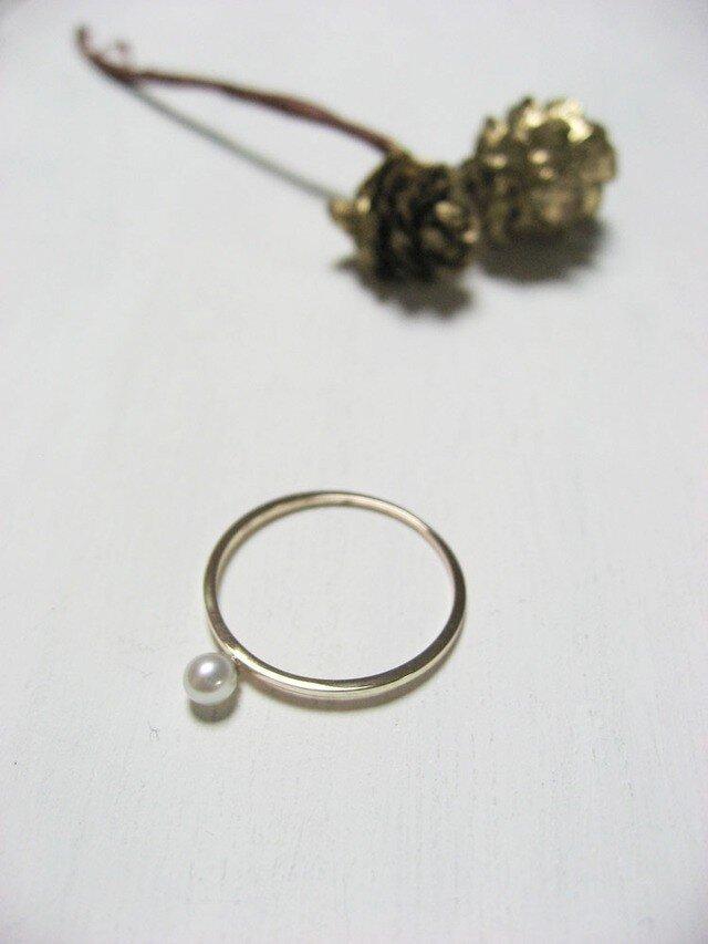 K10 一粒パールのリング 1号~15号の画像1枚目