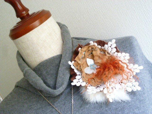 ornato ~革と毛皮とレースのコラージュ~ ♪パピヨン♪の画像1枚目