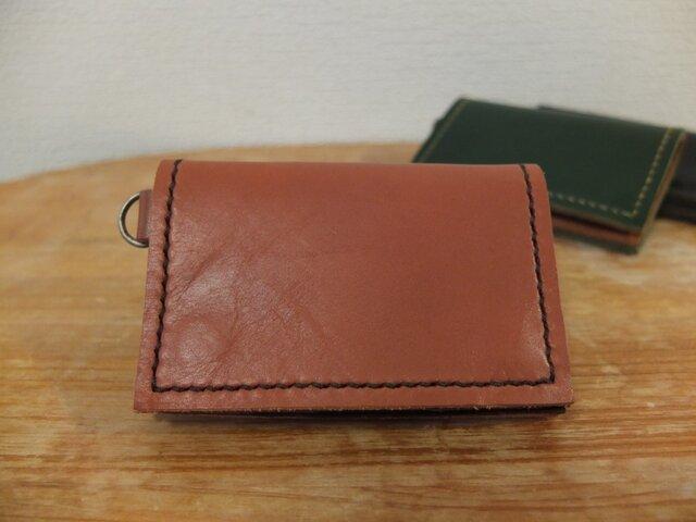 シンプルで使いやすい背面ポケット付きの小銭入れ(大)_BRの画像1枚目