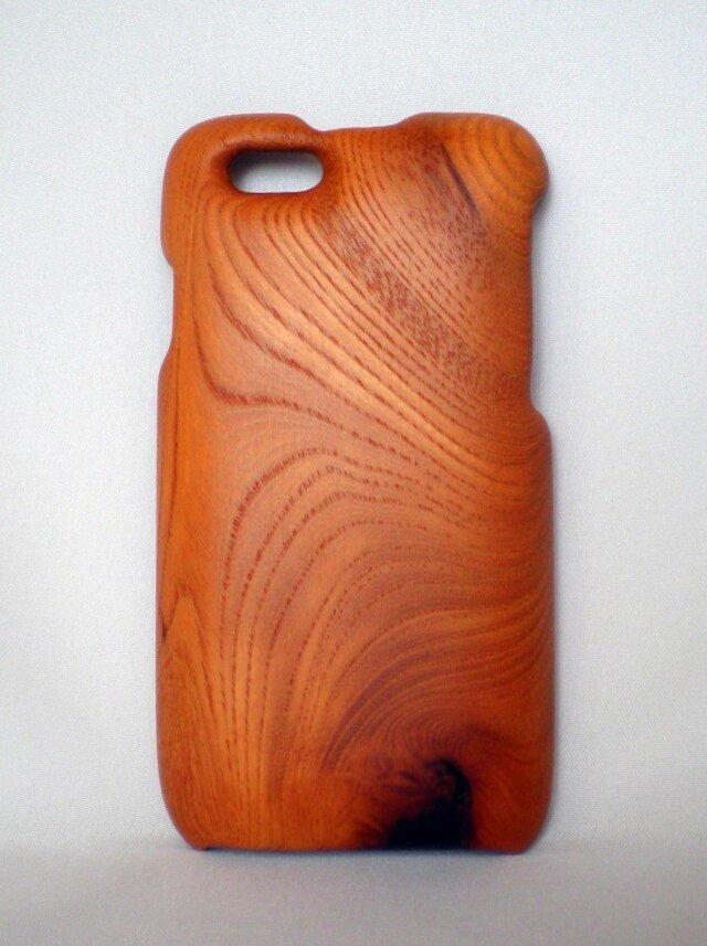 木製iPhone6用ケース(けやき・片面カバー)の画像1枚目