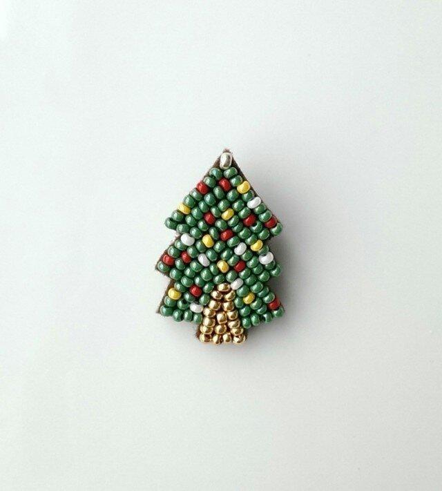 クリスマスツリー ブローチの画像1枚目