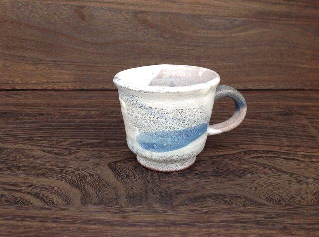 コバルトと藁灰釉のマグカップの画像1枚目