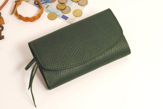 【受注製作】財布 wrap-L (HL) [グリーン]の画像1枚目