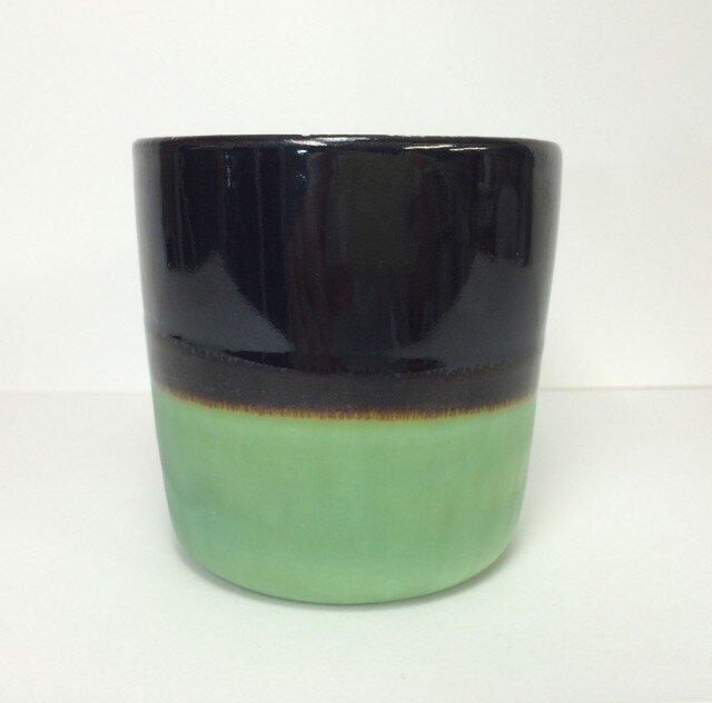Meoto cup/M(Kuro-tenmoku/bronze)の画像1枚目