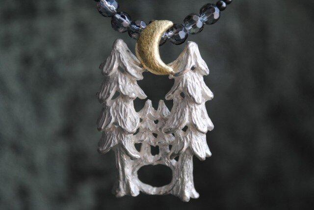セット『森の上の月』ネックレスの画像1枚目