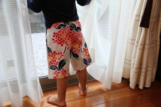 手ぬぐい ズボン(100サイズ)の画像1枚目