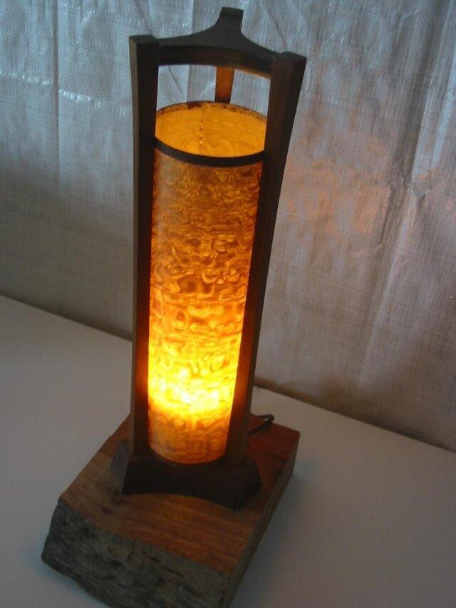 三枠型木製照明(LED電球別途)の画像1枚目