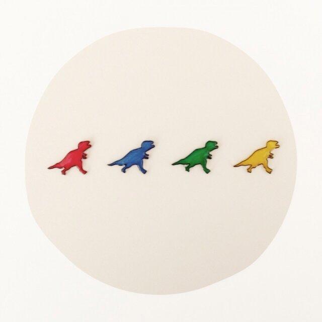 恐竜さん○ピアスの画像1枚目