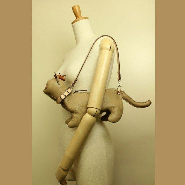 猫ショルダー バッグ Kitten Shoulder ベージュの画像1枚目
