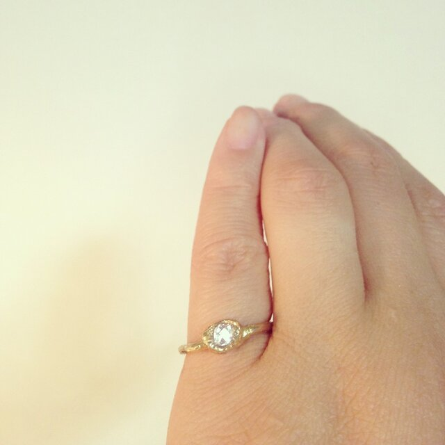 ハマーキーダイヤモンドリングの画像1枚目