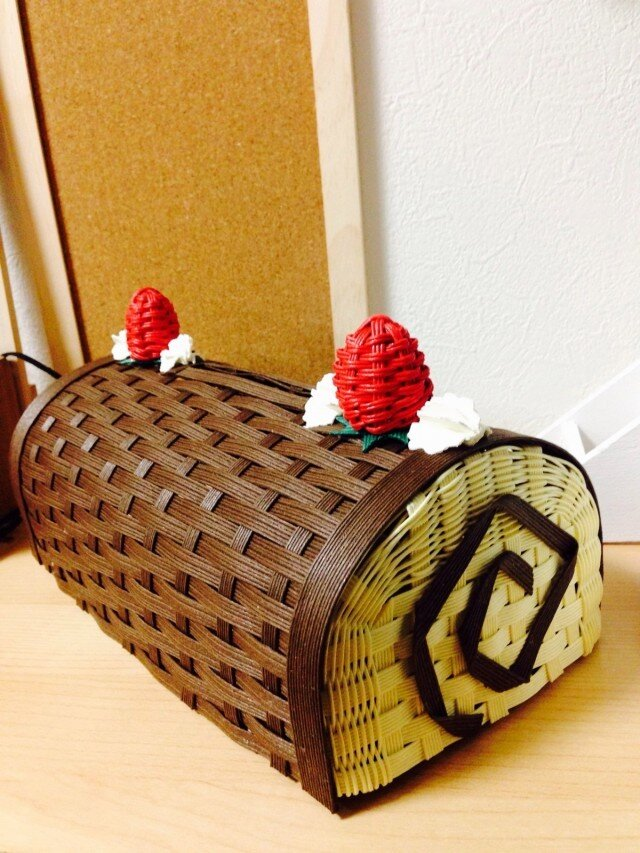チョコケーキBOXティッシュカバーの画像1枚目