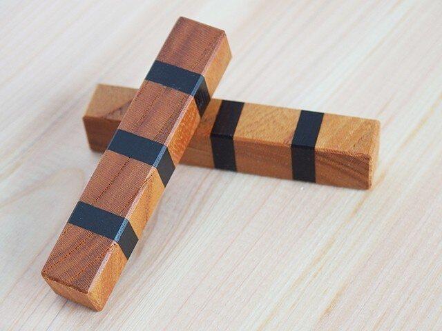 組木箸置2個セットの画像1枚目