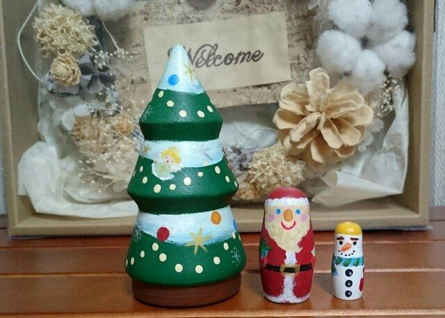 クリスマスツリーのマトリョーシカの画像1枚目