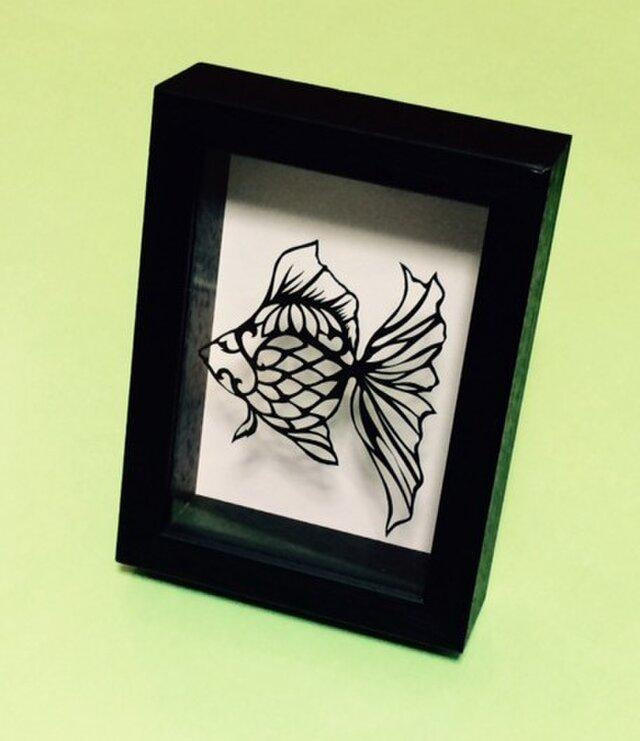 金魚2 切り絵作品の画像1枚目