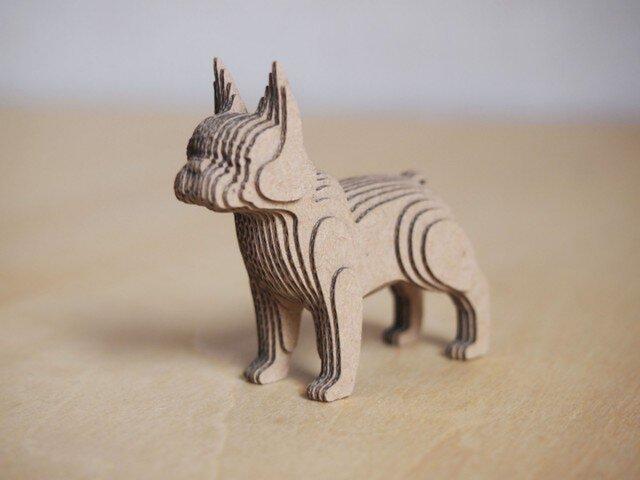 【工作キット】段々犬-French Bulldogの画像1枚目