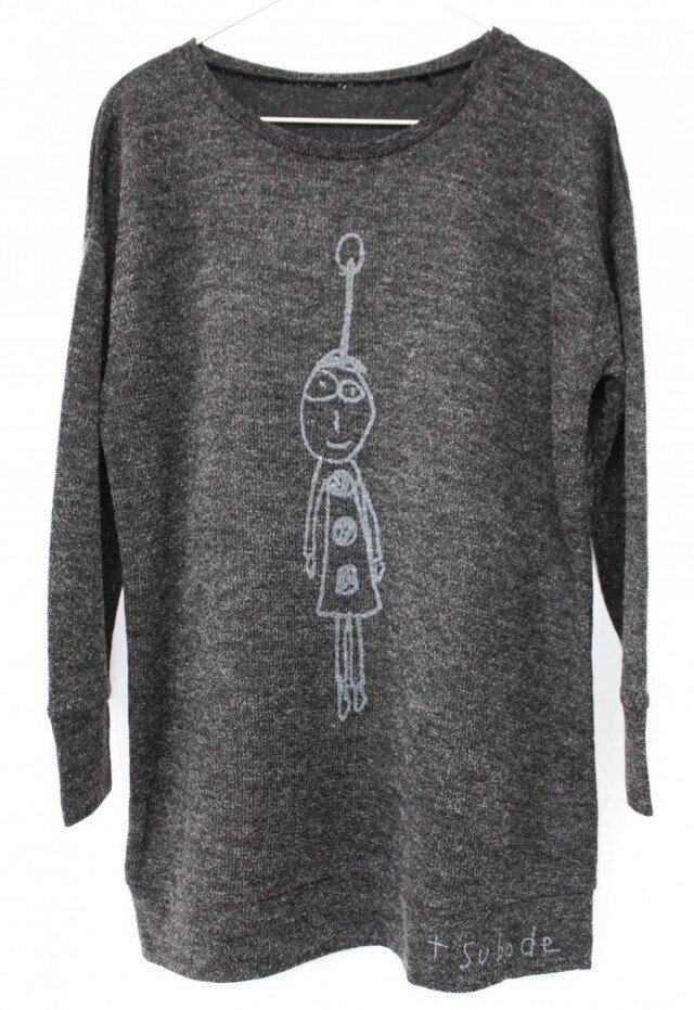 セーター風チュニック noel <grey>の画像1枚目