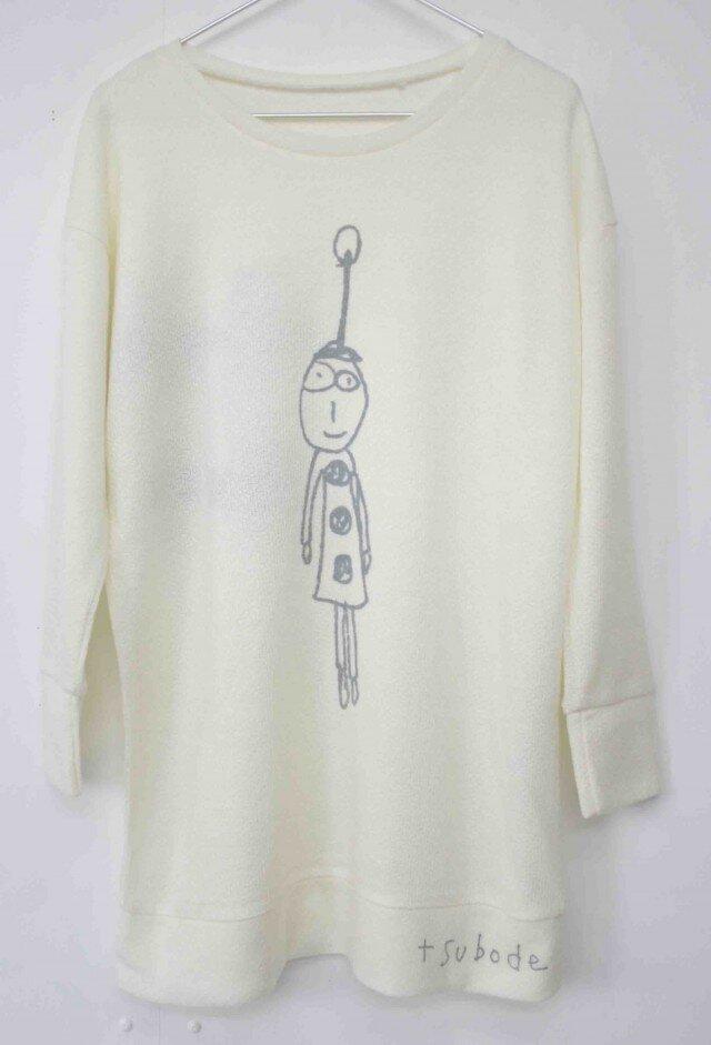 セーター風チュニック noel <white>の画像1枚目