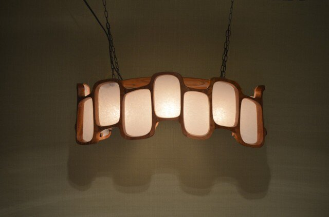 木製 ペンダントランプの画像1枚目