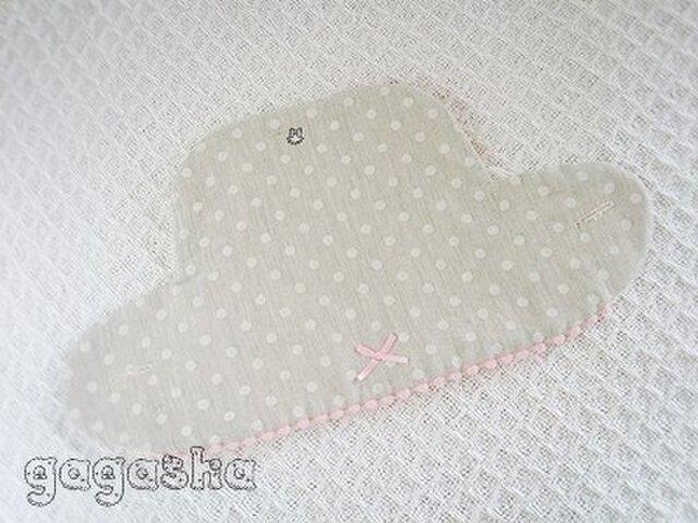 エルゴ360 スリーシックスティ ビブ グレードット ピンク リバーシブルの画像1枚目